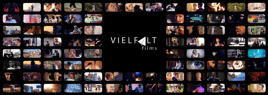 das bild zeigt verschiedene ausschnitte aus videos der videoproduktion vielfaltfilms Hannover